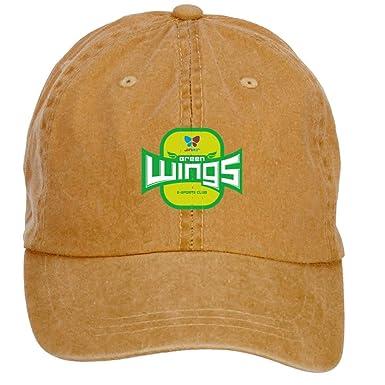 ZHENGXING Jin aire verde alas Logo Png Hombres del algodón gorra ...