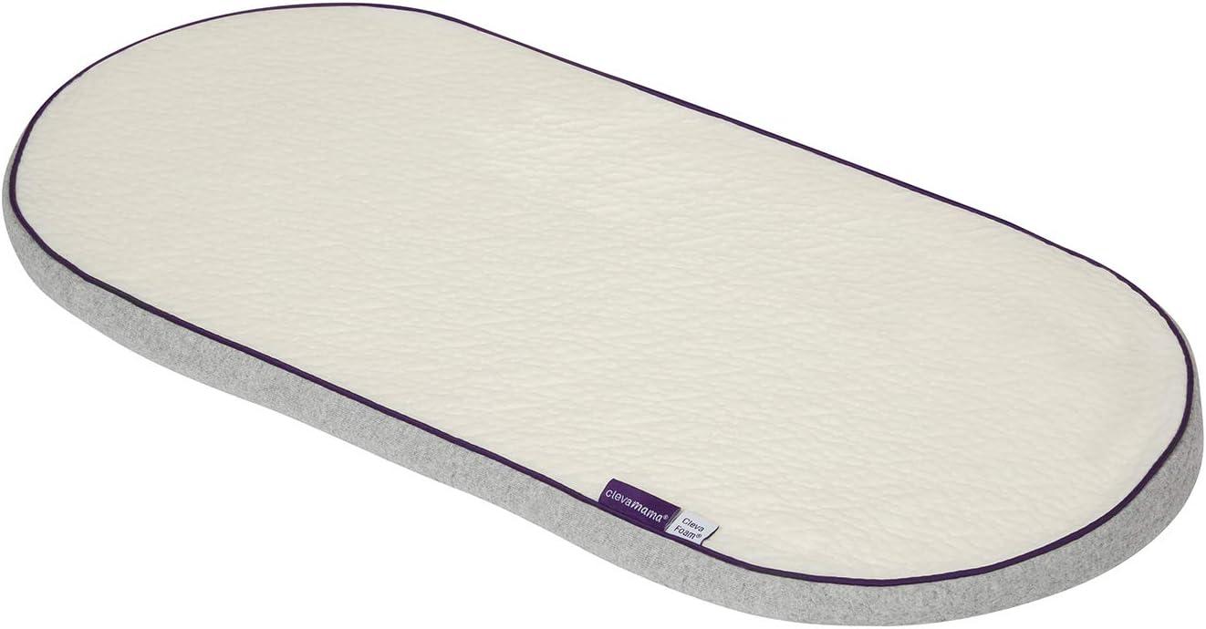 Clevamama ClevaFoam Colchón para Capazo y Carritos de Bebé 66x28 cm