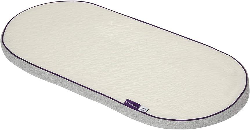 Couffin Matelas Mousse Bassinet B/éb/é PRAM Ovale Enti/èrement Respirant Matelass/é Taille 74 x 28 x 3,5 cm