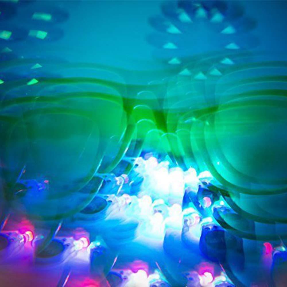 White LUFF Ultimate Kaleidoscope Glasses Lente difractada de Vidrio Ligero para Navidad Festival de m/úsica de Halloween Party