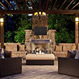 """Outdoor TV Cover, Weatherproof Universal Protector for 36"""" - 38"""" LCD, LED, Plasma Television Screens. Dust-proof with Bottom Seal and Soft Liner - Compatible with Standard Mounts and Stands"""