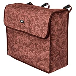 Tough-1 Blanket Storage Bag in Prints Tooled Leather Brown