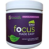 Focus Made Easy: Fast Acting Attention & Focus Vitamin Treatment - Tropical Flavor, 30 Servings (Vitamin A, Vitamin C, Vitamin D3, Calcium, Magnesium, Vitamin B6, Vitamin B12, & More)