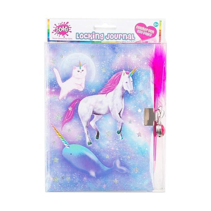 Amazon.com: 3C4G - Diario infantil con diseño de unicornio ...