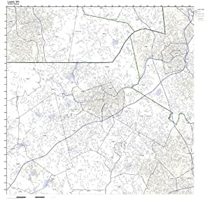 Lowell Ma Zip Code Map.Amazon Com Lowell Ma Zip Code Map Not Laminated Home Kitchen