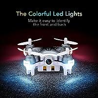 Mini Quadcopter Drone with Camera, EACHINE E10C Mini Drone with 2.0MP HD Camera Remote Control Nano Quadcopter for Kids LED Light RC Drone RTF Mode2 from EACHINE