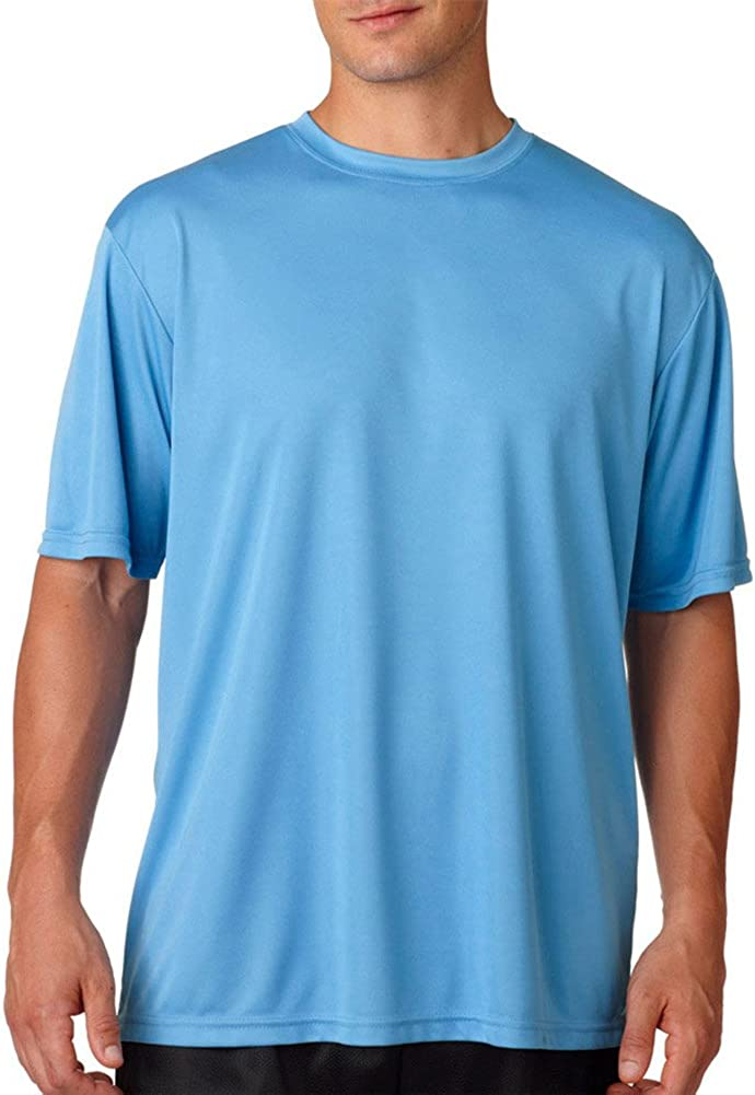 A4 Adult Cooling Performance T-Shirt, Light Blue, XXXX-Large