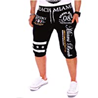Pantalones Cortos Hombre Verano 2020 Nuevo SHOBDW Casual Impresión de Letras Pantalones Hombre Chandal Cordón Elástico…