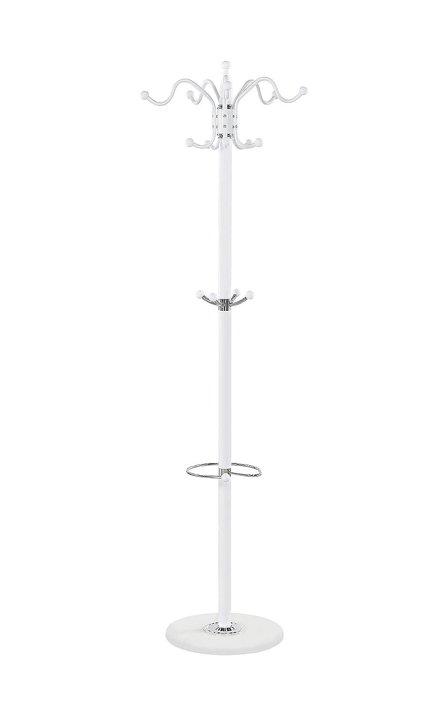 Maxx 173 cm con 14 Ganci Colore: Bianco Appendiabiti Waved in Metallo e Marmo