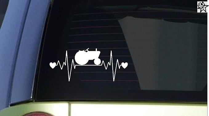 Herzschlag Aufkleber Tractor Landwirt 20cm Sticker Herz Fan Hobby Leidenschaft Liebe Für Auto Autoaufkleber Auto