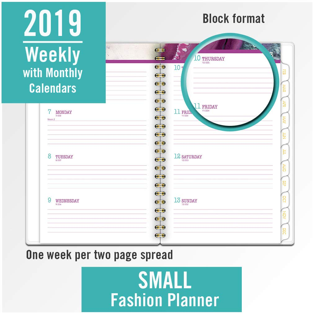 Cambridge 2019 Weekly & Monthly Planner, 4 7/8