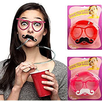 Amazon.com: Generic Crazy Funky Drinking Straw Glasses