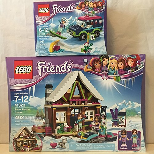 LEGO Friends Snow Resort Chalet & LEGO Friends Snow Resort Off-Roader Husky Stacking Chair