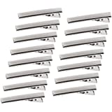 Silver Metal Alligator Hair Clips Pins 100 Pcs Flat Top with Teeth for Hairdressing Salon Hair Grip Arts and Crafts Projects