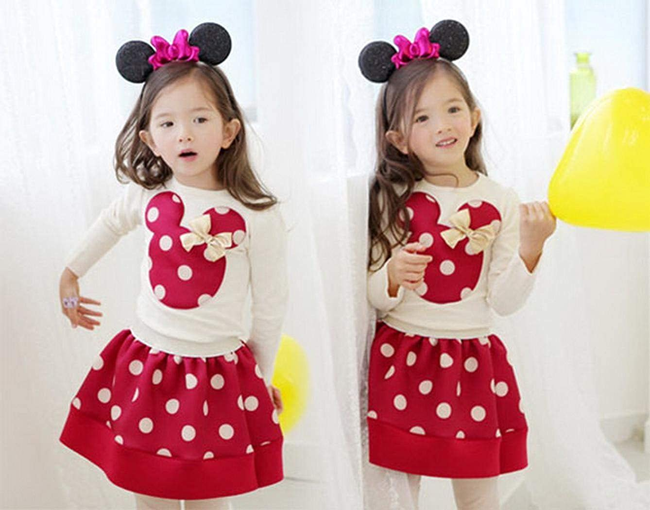 Skirt Casual Clothes Sets Suit Outfits Age 3-11 Zeagoo Baby Girls Kids T-shirt