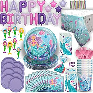 Mermaid Under the Sea Birthday Party Ultimate Set