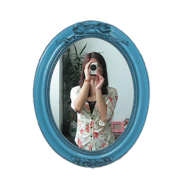 Color : Black maquillage HD Miroir Commode for Chambre Salon Salle de bain H/ôtel Vintage Or Vert Noir Bleu Blanc Miroir mural Miroir suspendu Bordure r/ésine noire