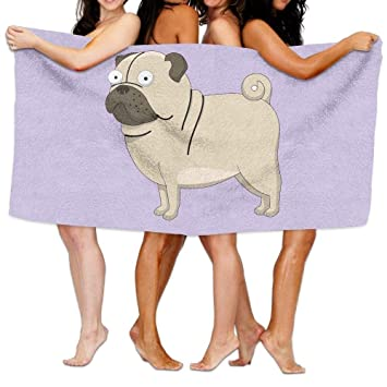 Amazoncojp バスルームタオル Xl かわいい 面白い犬のイラスト入り