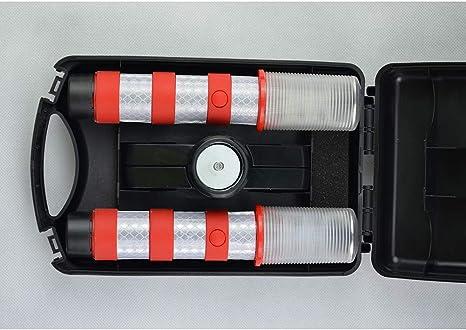 Lamf Notfall Straßenblinker Set Mit Abnehmbarem Ständer Gefahrenlicht Set Sicherheits Stroboskoplicht Für Straßenverkehr Warnung Verkehr Blau Küche Haushalt