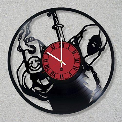 New Batman Costume Affleck (Vinyl Record Wall Clock Deadpool Comics Movie Wade Wilson decor unique gift ideas for friends him her boys girls World Art Design)