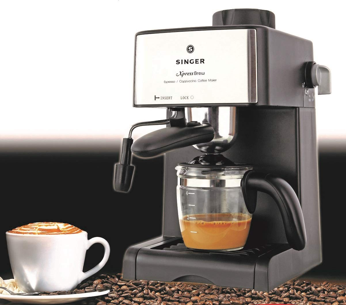 Singer Xpress Brew 800 Watts Coffee Maker - 4 Cups