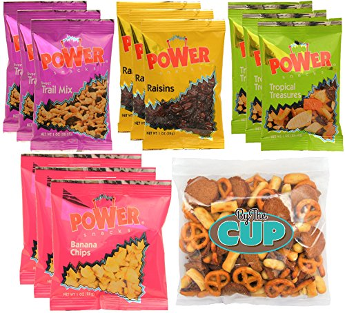 Azar Nuts Power Snacks Variety - 1 Ounce Single Serve Bags of Dried Fruit, Nuts and Seeds (Pack of 12) - with Exclusive By The Cup Snack (Azar Nut)