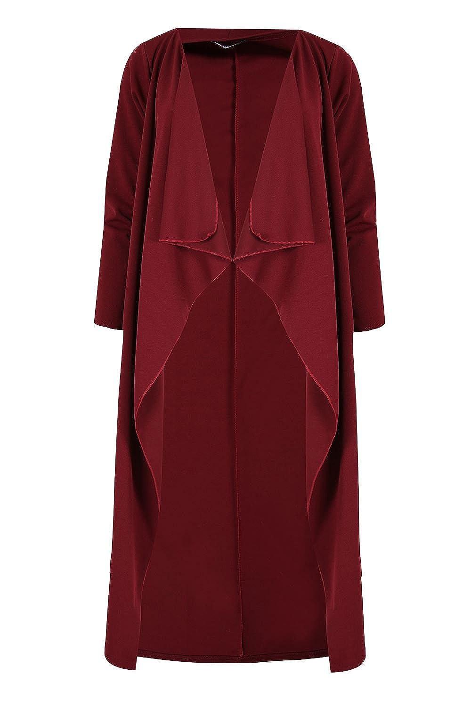 Oops Outlet Women's Open Waterfall Duster Coat Long Sleeves Crepe Cape Cardigan BE JEALOUS