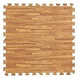 ANATYU Child anti-fall anti-collision wood grain living room EVA foam puzzle mat waterproof mat soundproof non-slip crawling mat 8 packs