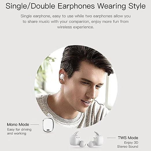 Auriculares Bluetooth con Control táctil, Mini audífonos inalámbricos, audífonos inalámbricos QCY T1 Pro TWS con micrófono para Android, iOS y PC con Caja ...