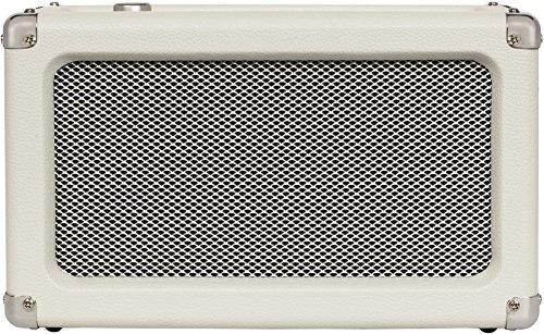(Crosley CR3028A-WS Charlotte Vintage Full Range Portable Bluetooth Speaker, White Sand)