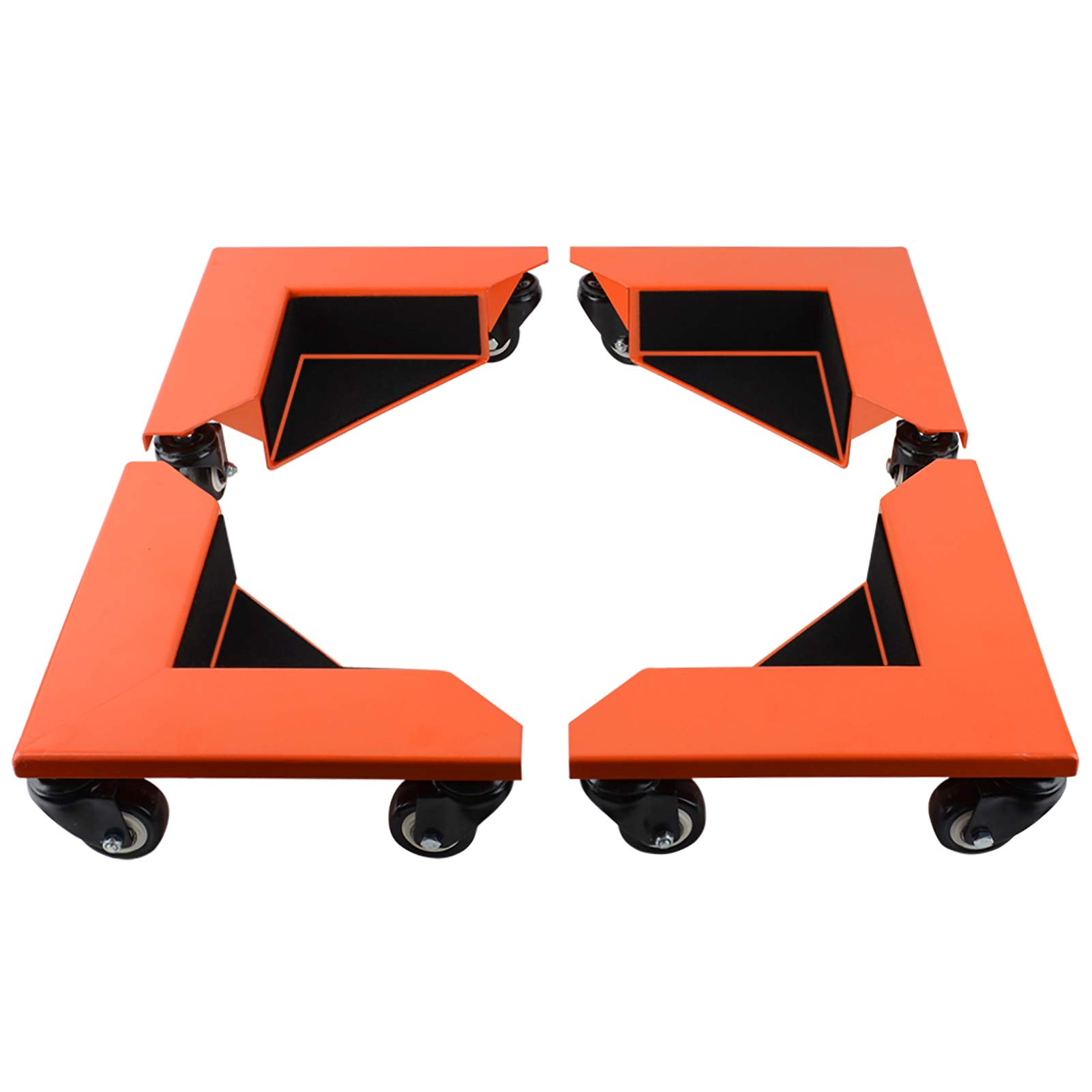SPACEKEEPER Furniture Mover Dolly 4 Pack 6-Inch Steel Tri-Dolly 500 Lbs Capacity Each Pack 3 Wheels Mover Dollys for Moving Heavy Furniture