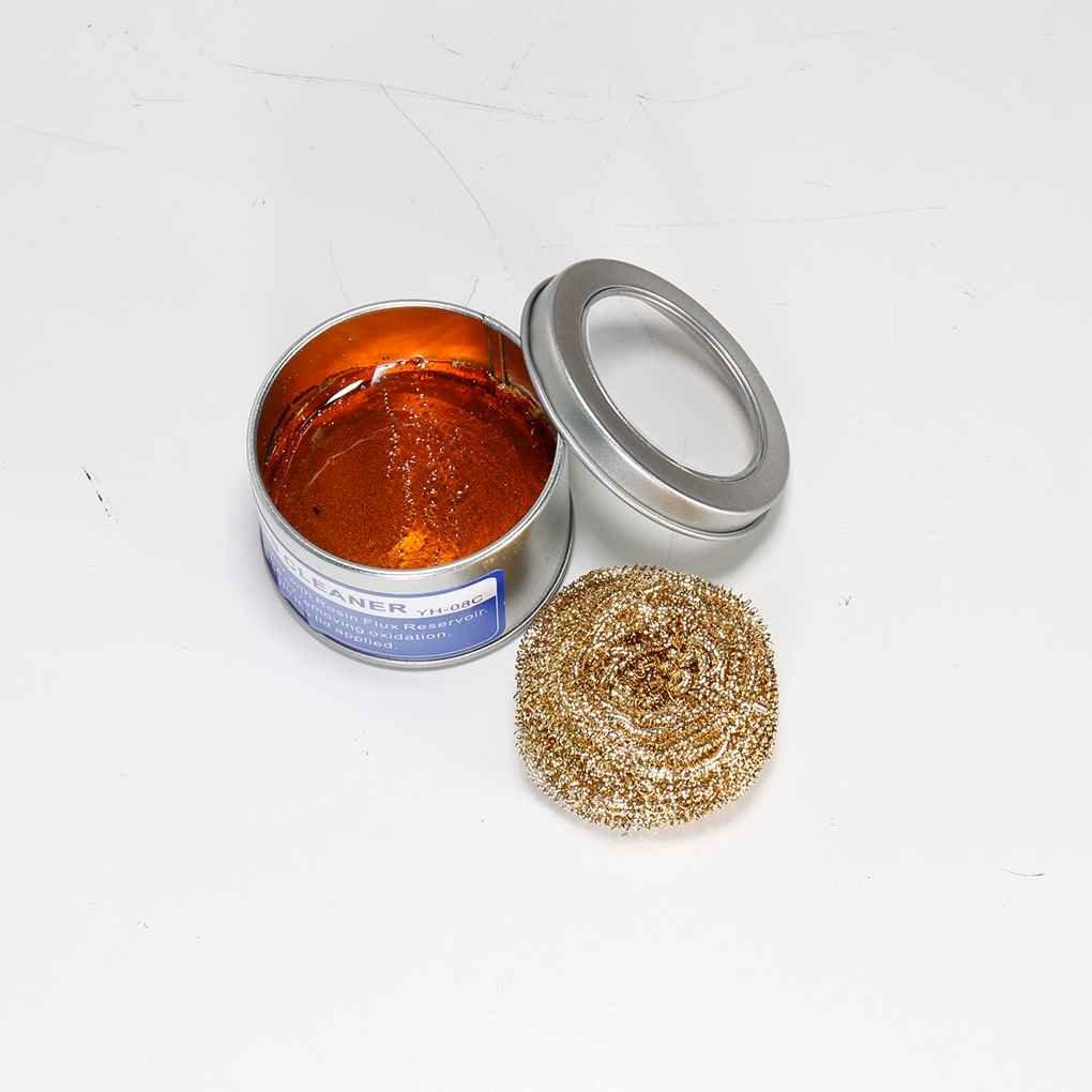 08C alto flujo de la resina Herramientas extremidad del soldador Cleaner Limpiador Soldadura Soldadura punta de hierro de cobre de la bola Regard Natral: ...