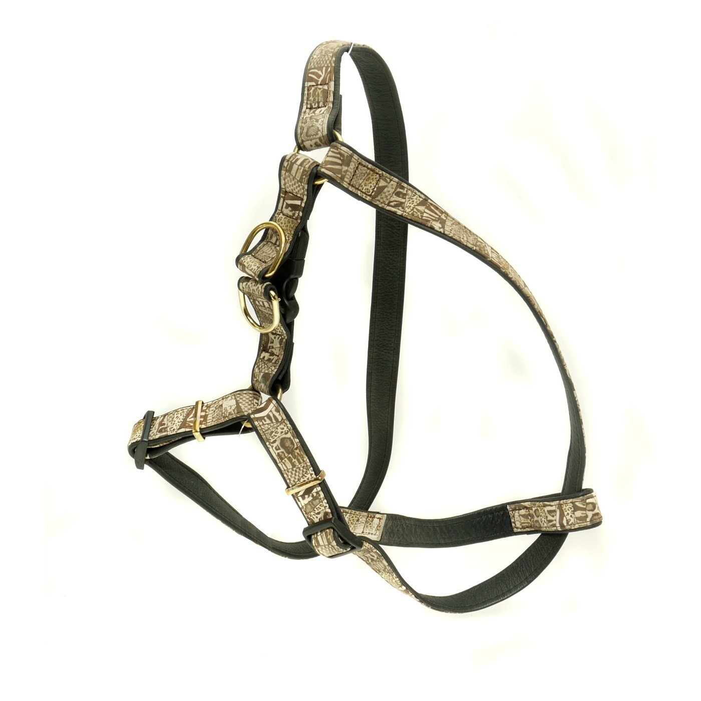 Black Brown One Size Black Brown One Size Vital Pet Products Yaquarete Adjustable Dog Harness (One Size) (Black Brown)