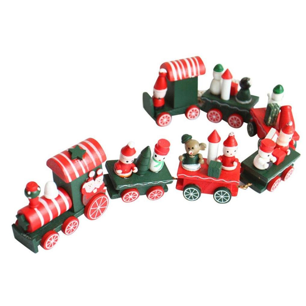 CocoMarket Toys & Games christmas decorations Wood Christmas Train 7 Pieces