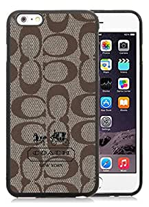 Coach 6 Black iPhone 6 Plus 5.5 inch Screen TPU Cover Case Luxurious And Beautiful Style