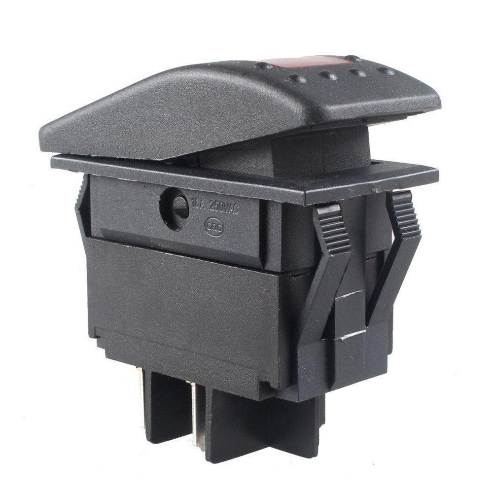 Blue 1 Pcs Qiorange Waterproof LED Toggle Switch Dash 4pin For Car Motorcycle Boat Marine