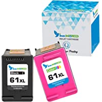2-Pack InkWorld Remanufactured 61/61XL Ink Cartridge Replacement for HP Printers