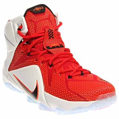 Image Unavailable. Image not available for. Color  NIKE Lebron XII Mens University  Red Black-White-Hyper ... c2f4c1818