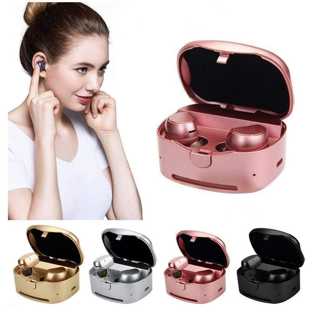 Hulorry Galaxy S9+ Bluetooth Headphones, Wireless Bluetooth Earbuds Sport Charging Box Noise Cancelling Sweatproof Earphones Gym Running iPhone iPad Samsung Tablets All Bluetooth Device