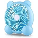 fukuraku ミニ静音扇風機 USB消費電力 デスク扇風機 オフィス用扇風機 超静音 USB扇風機 小型 ミニ 持ち便利  2段階風量切り替え