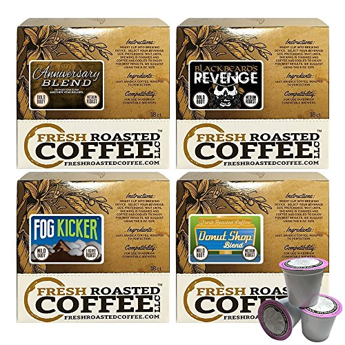Fresh Roasted Coffee LLC, Mild Artisan Blend Coffee Pod Variety Pack, Artisan Blend, Capsules Compatible with 1.0 & 2.0 Single-Serve Brewers, 72 -