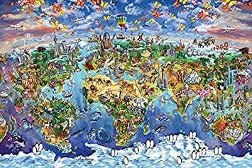 Amazon world wonders map maria rabinky poster 36x24 posters amazon world wonders map maria rabinky poster 36x24 posters prints gumiabroncs Image collections