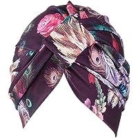 Fossrn Vintage Flores Gorro Sombrero Turbantes Pañuelos Cabeza Mujer para Cancer Quimioterapia, Oncologicos, Pérdida de…
