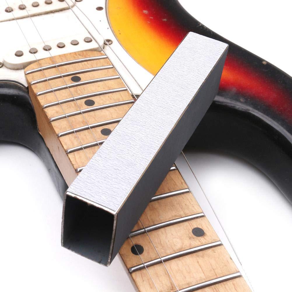 Guitar Fret Sanding Leveler Beam Leveling Bar Bass Sanding Block Polish Kit Luthier Repair Tool for Electric Guitar Acoustic Guitar Bass