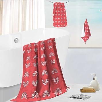 Amazon.com: Miki Da Juego de toallas de baño con diseño ...