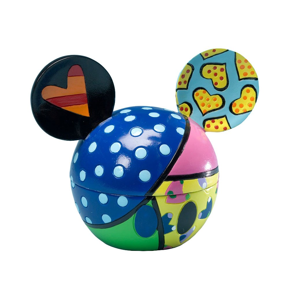 Enesco Disney by Britto from Mickey Head Covered Box Sweetheart 4.
