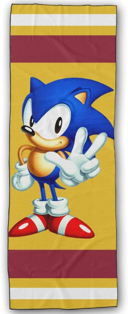 Pilnmmk Sonic The Hedgehog Yoga Towel 183cm 61cm Ultra Absorbent Machine Washable Exercise Fitness Pilates And Yoga Gear Amazon Ca Sports Outdoors