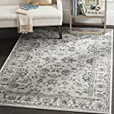 Safavieh Vintage Collection VTG430A Transitional Oriental Grey and Ivory Distressed Area Rug (8' x 10')