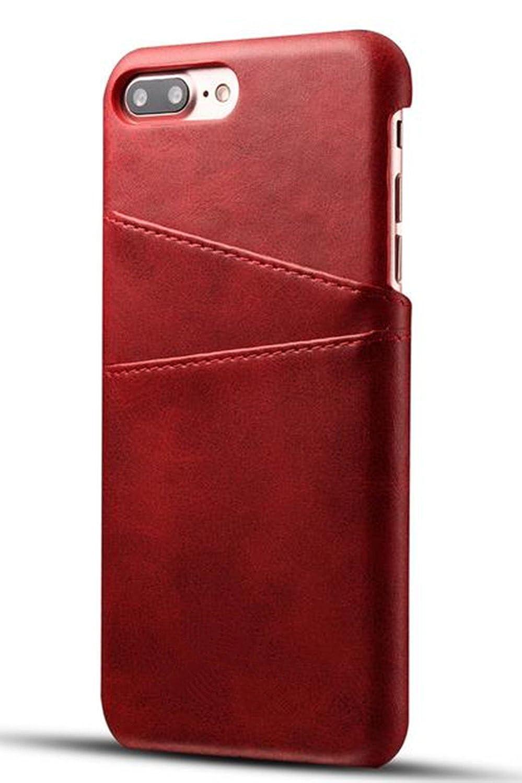 iPhone xクレジットカードケース、InspirationcスリムPUレザーバックケースカバーwith財布携帯電話ホルダーIphone X 5.8インチ iPhone 6 Plus/6S Plus[4.7 Inch] レッド iPhone 6 Plus/6S Plus[4.7 Inch] レッド B075Q6NXPR