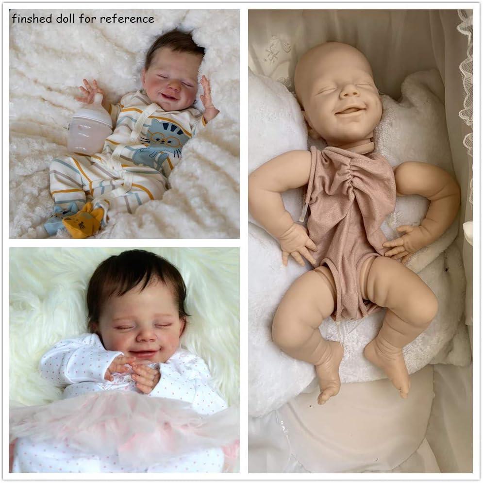 22 inch Reborn Toddler Kits Silicone Baby Dolls Reborn Kits Unpainted Mold DIY